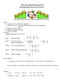Step by Step Mathematics - Solving Slope from Two Points