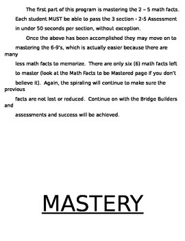 The Step-by-Step Multiplication Math Fact Mastery Program
