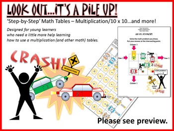 MATH TABLES: Large Size, Color Guides, and More!
