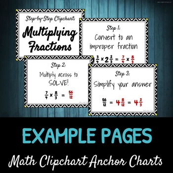 Step-by-Step Multiplying Fractions DIY CLIPCHART