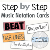 Step by Step Music Notation Cards