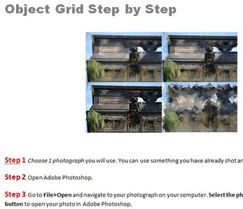 Step by Step Object Grid with Filters Adobe Photoshop