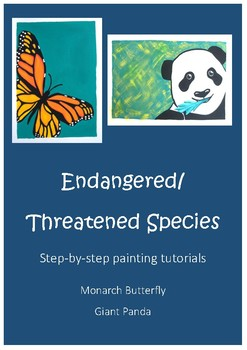 Step by Step Painting Instructions - Art, Earth Day, Environment, Endangered