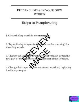 Step by Step Paraphrasing