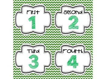 Step-by-Step Picture Directions - Green Chevron