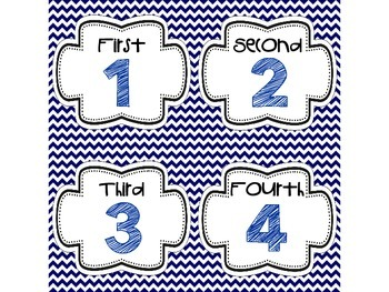 Step-by-Step Picture Directions - Navy Chevron