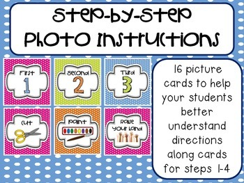 Step-by-Step Picture Directions - Polka Dots