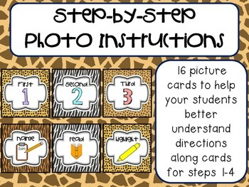 Step-by-Step Picture Directions - Safari/Jungle Themed