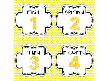 Step-by-Step Picture Directions - Yellow Chevron