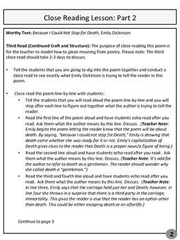 NO PREP Poetry Close Read Lessons 2