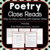 NO PREP Poetry Close Read Lessons