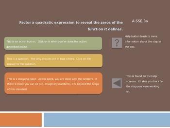 Step-by-Step Presentation for Finding Zeros of Quadratics