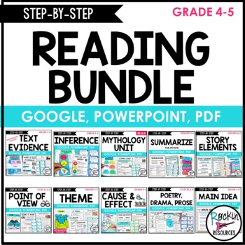 Step-by-Step Reading Skills for Reading Comprehension Bundle | Distance Learning