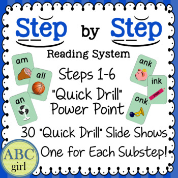 Reading System Steps 1-6 Quick Drill Power Point  for SMARTboard