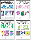 Step by Step Seasonal Crafts BUNDLE 2 (Jan-April)