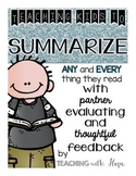 Step by Step Summarizing and Rubric