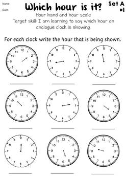 Step by Step Telling Time Worksheets