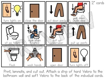 Free Visual Aids For Using The Bathroom And Washing Your Hands By Mrs Ds Corner