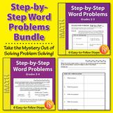 Step-by-Step Word Problems {Bundle}