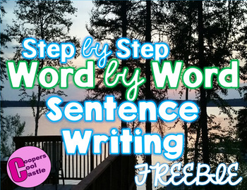 Step by Step Word by Word Sentence Building