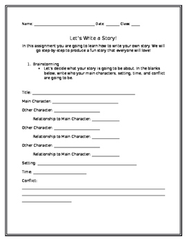Step-by-Step Writing a Story Assignment