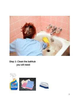 Step by Step directions for cleaning a bathroom