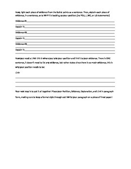 Step by Step for Writing a Persuasive PEELS Paragraph