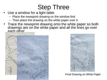 Step by Step on how to do a Cubist Drawing