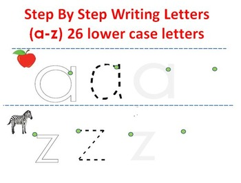 Step by Step writing Letters (A-Z)
