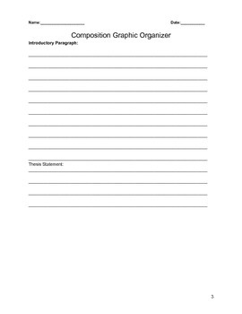 Step by step Composition Graphic Organizer