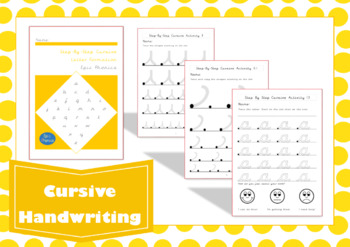 Step-by-step Cursive Letter Formation Handwriting Practice Workbook
