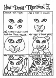 Step-by-step How to draw a Tiger Face!