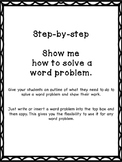 Step-by-step Show me how to solve a word problem