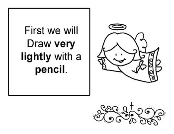 Step by step art lesson - Angel
