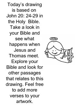 Step by step art project based on John 20: 24-29. BELIEVE!