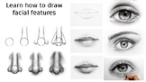 Step by step guide on how to draw facial features. Cover a
