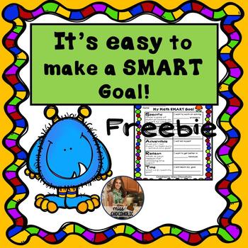 Math SMART Goal Graphic Organizer-Sample