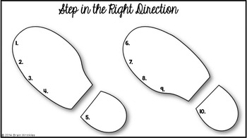 Step in the Right Direction -- A Back to School Activity