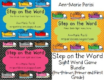 Step on the Word BUNDLE, Pre-Primer, Primer and First Grade Dolch Lists