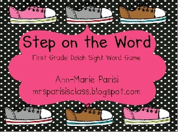 Step on the Word, First Grade Dolch List Sight Word Game