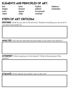 Step up to Art Criticism Writing