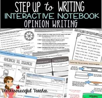 Step up to Writing Lessons with Interactive Notebook - Opi