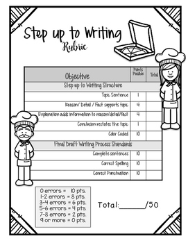 Step up to Writing Lesson ELA with Interactive Notebook Pages