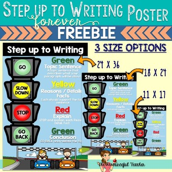 Step up to Writing Poster Forever FREEBIE