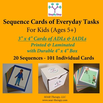 20 Sequences of Everyday Activities for Kids -101 Laminated Cards
