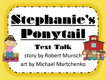 Stephanie's Ponytail Text Talk Supplemental Materials