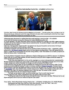 "Stephen Crane: Informational Text - ""Reality Show Snake-Handling Preacher..."""