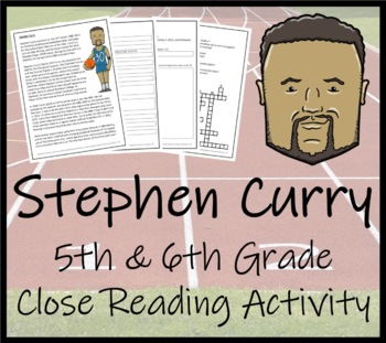 Stephen Curry 5th & 6th Grade Close Reading Activity