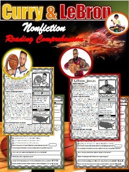 Stephen Curry/LeBron James Reading Passages (Black History Month Activities)