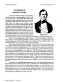 Stephen Foster Packet